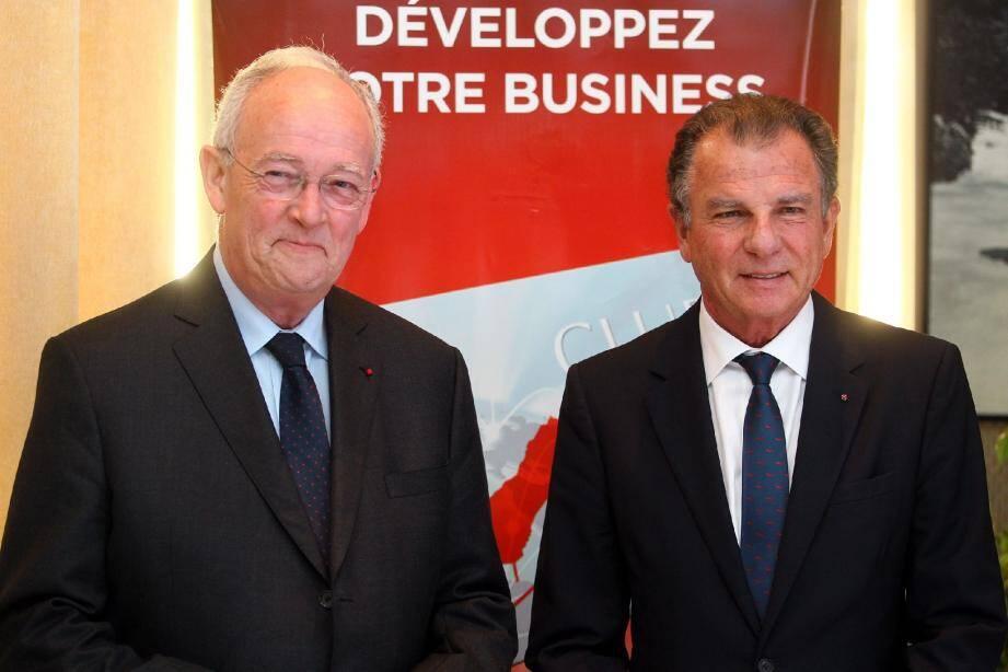 Le ministre d'État Michel Roger (à gauche) a assisté à l'assemblée générale de la CDE aux côtés de son président Michel Dotta.