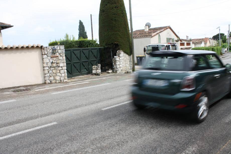 Les liux de l'accident mortel de voiturette à La Colle-sur-Loup.