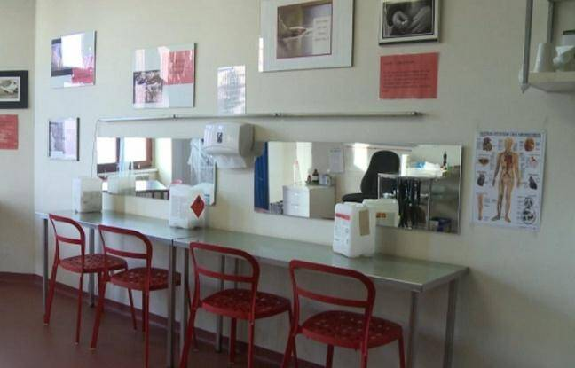 Salle d'injection supervisée en Allemagne.