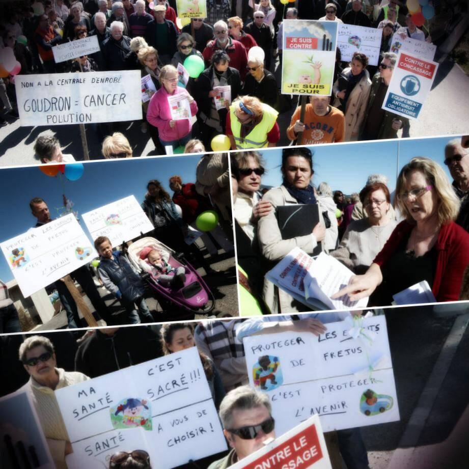 Importante mobilisation mercredi dernier pour protester contre le projet de deux usines (béton et enrobé) ainsi qu'une unité de concassage.