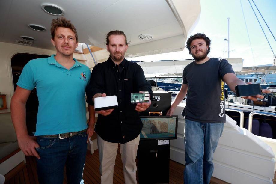 Thomas Decaux, Nicolas Lucciardi et Thibault Jochem, les trois cofondateurs de la « KinouTV ».