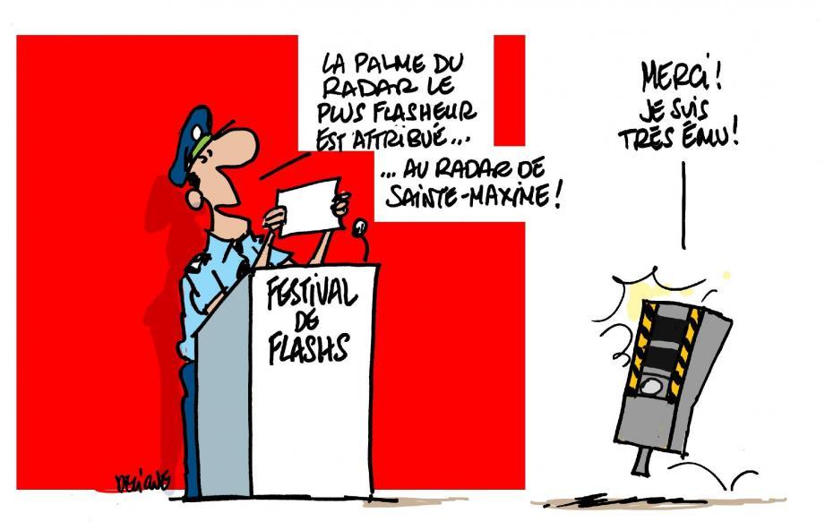 Les deux colonnes de « radars discriminants » situées sur la D25 à Sainte-Maxime ont « flashé » à toute allure l'an dernier ! 5 893 fois dans le sens Sainte-Maxime-Le Muy et 10 567 pour l'autre.