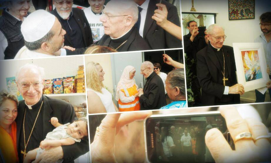 Toutes les ethnies de l'Ariane ont partagé un moment intense avec le haut dignitaire du Vatican, le cardinal Paul Poupard