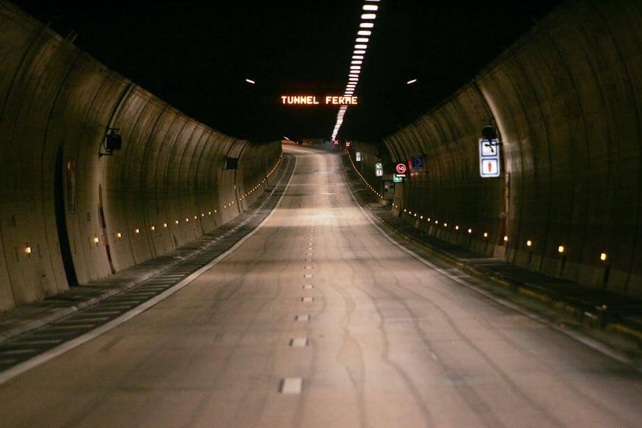 Illustration intérieur du tunnel de Toulon fermé