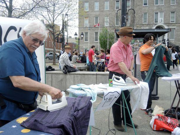 Samedi, venez repasser votre linge dans la rue pour prouver que vous n'êtes pas un macho !