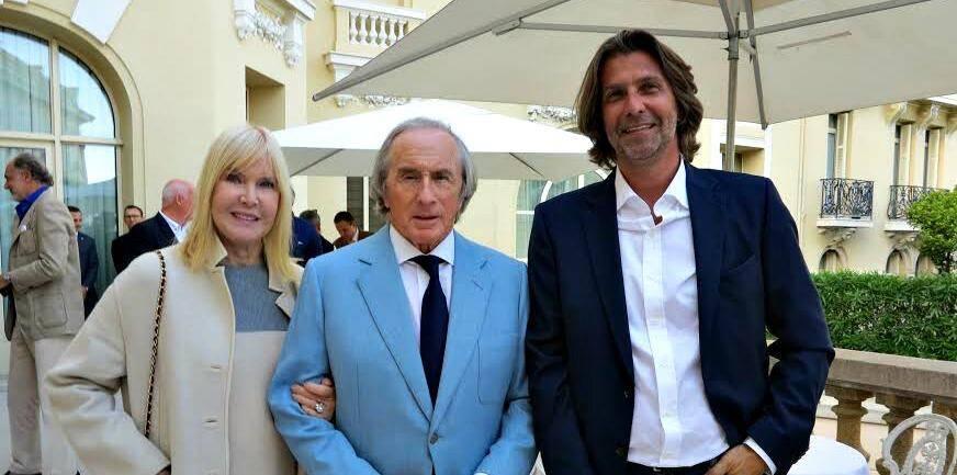 Helen Stewart, Sir Jackie Stewart, triple champion du monde F1, Hannes M. Schalle, réalisateur et dirigeant de Moonlake Entertainment Production