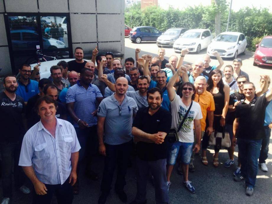 Les salariés d'Otis, ici à Nice, sont en grève
