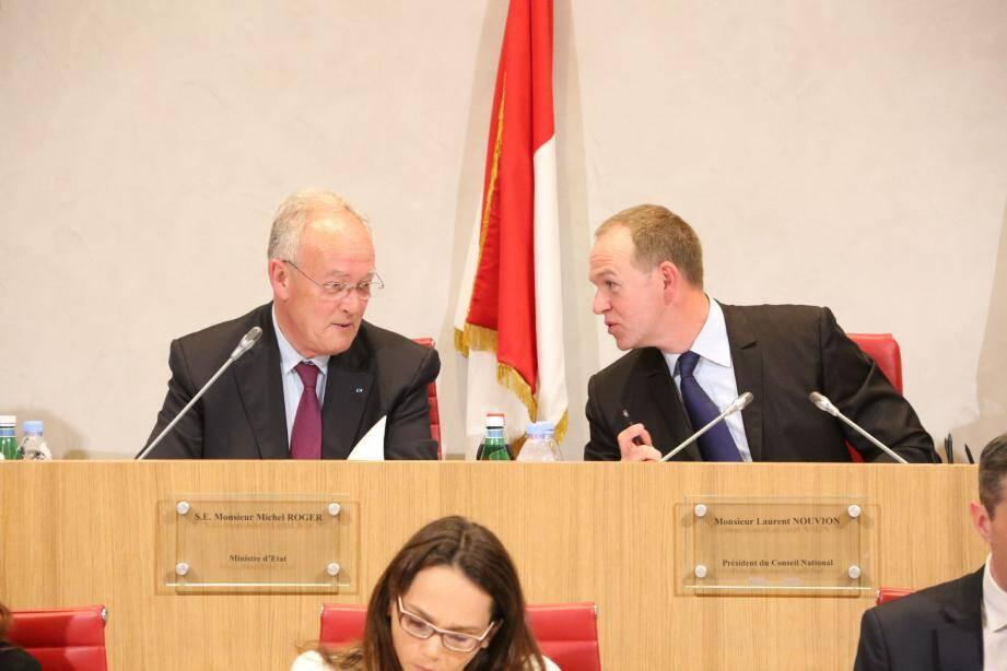 Michel Roger, ministre d'État, et Laurent Nouvion, président du Conseil national, semblent avoir trouvé un compromis pour faire avancer, enfin, le projet de loi sur la modernisation du droit économique.