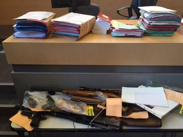 Les armes saisies par les gendarmes.