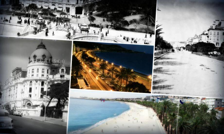 La Promenade des Anglais a subi d'importants travaux qui ont façonné le paysage et fait de Nice, une site de tourisme de masse