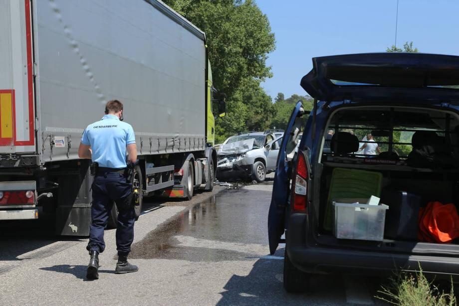 Accident sur la RDN7 à Brignoles