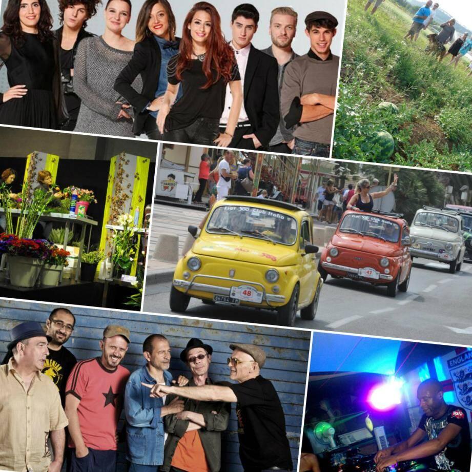 The Voice à Nice, Salon Eco responsable à Sainte-Maxime, Massilia Sound Sytem à Mouans-Sartoux, Mind World à Golfe-Juan, Fête des AMAP  à Biot, Festiv'Italia à Saint-Raphaël etc...