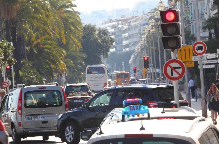 trafic promenade
