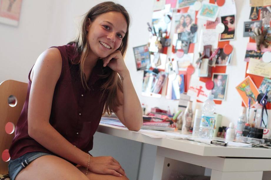 Lucile Magnaldo, 18 ans, bachelière, a obtenu plus de 20 sur 20 à son examen.