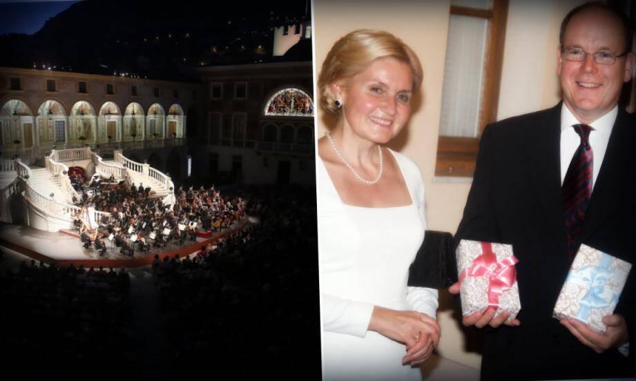 Avant le concert, le vice-Premier ministre de Russie Olga Golodets a offert deux cadeaux au prince Albert II pour ses enfants.