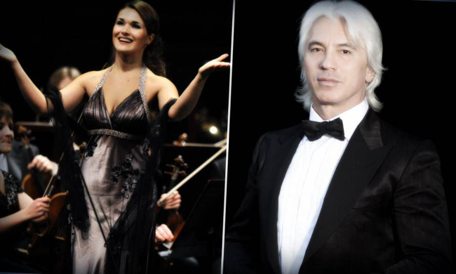 C'est la soprano russe Olga Peretyatko (à gauche), le violoniste Vadim Repin et la pianiste Svetlana Smolina, qui ont uni leur force pour pallier l'absence du ténor Dmitri Hvorostovsky (à droite).