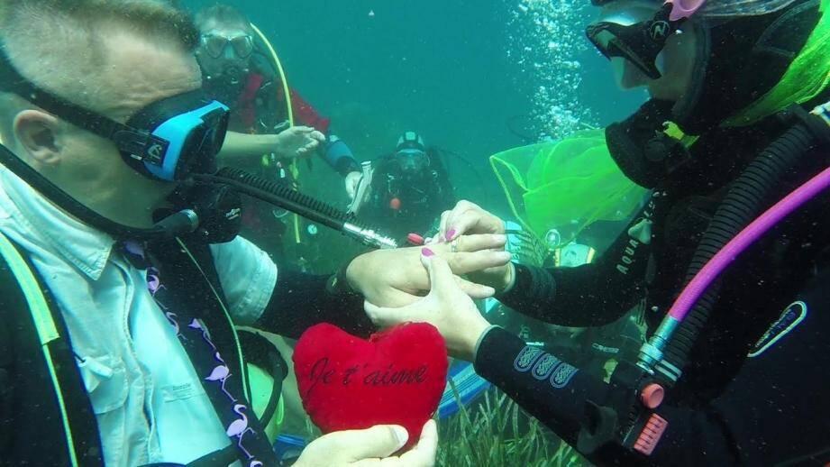 mariage sous marin