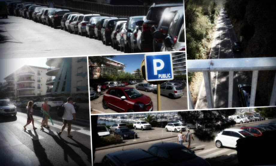 Parking gratuits ou stationnement en ville, on trouve toujours une petite place quelque part à Fréjus et Saint-Raphaël