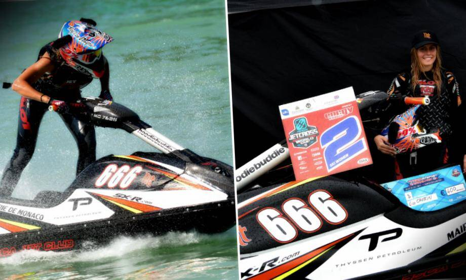Lisa Caussin-Battaglia, pour sa seconde saison de compétition, obtient une superbe deuxième place sur le podium de la Coupe du Monde de jet-ski, en Angleterre.