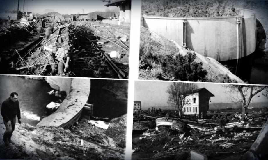 En décembre 1959, l'eau du barrage de Malpasset à Fréjus faisant plus de 420 morts. Depuis la plaie peine à panser