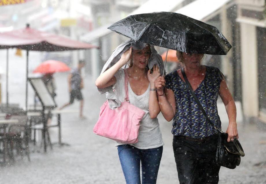 pluie Antibes