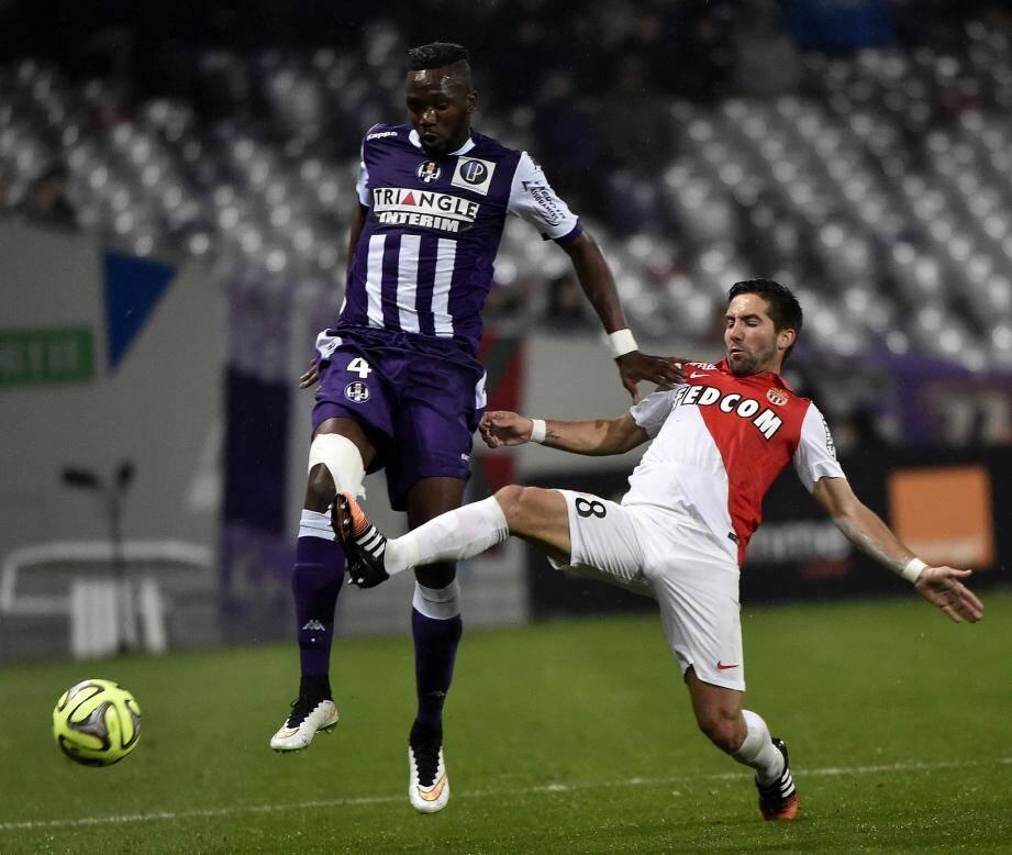 Le Toulonnais Tongo Doumbia lors du match contre Monaco en décembre 2014
