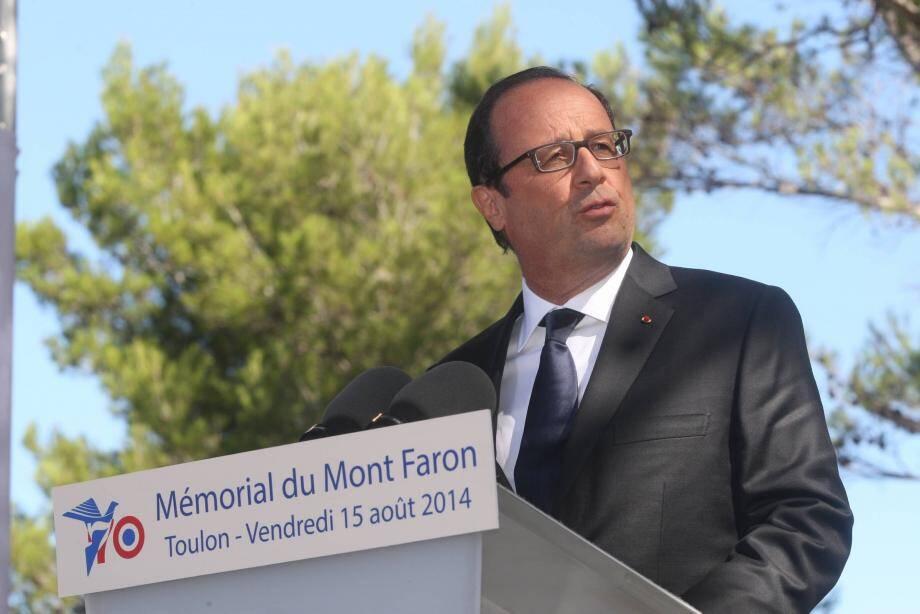 François Hollande, l'été dernier à Toulon