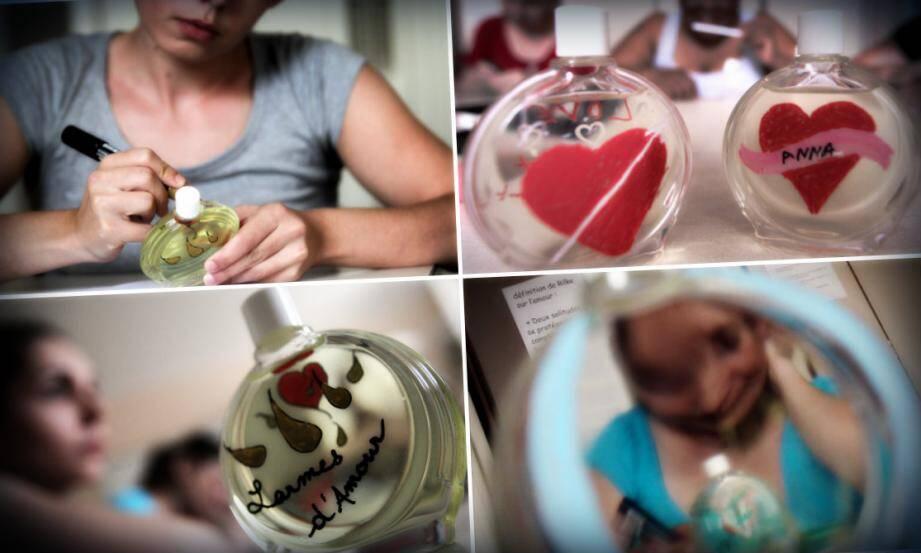 Dix détenues ont pu concevoir leur propre parfum. Un moment d'évasion pour ces femmes qui tentent d'échapper à la tristesse de leur cellule.