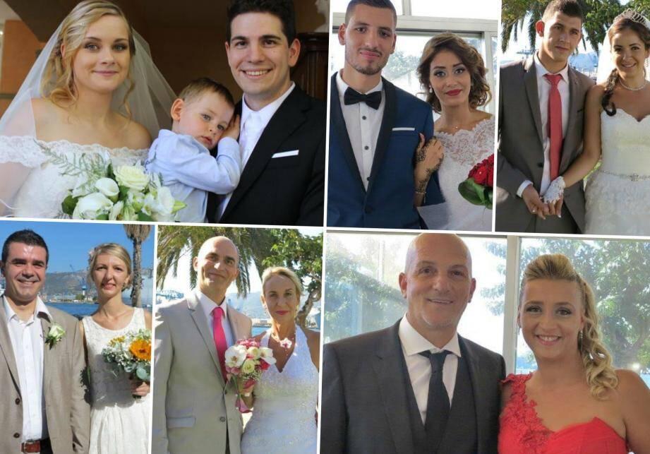 Les mariés du week-end à Toulon, au Pradet, au Revest et à La Valette.