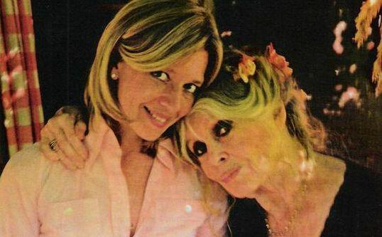 Wendy Bouchard et Brigitte Bardot à La Garrigue en 2014