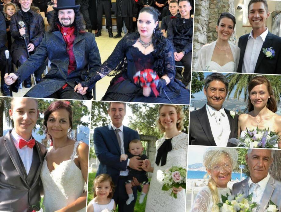 Les mariés dans l'aire toulonnaise
