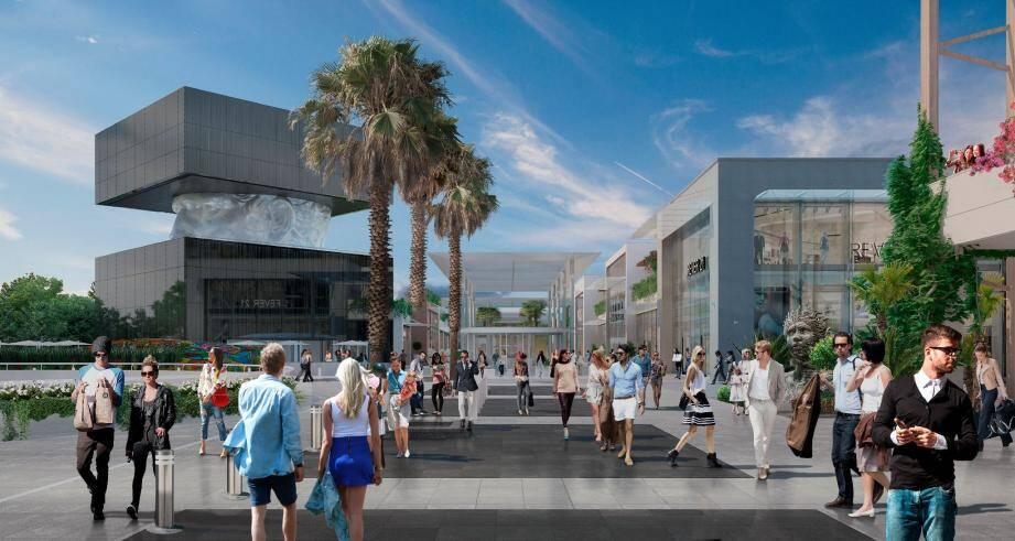 Le « premier lifestyle mall de France », qui doit ouvrir ses portes à Cagnes en octobre prochain, représente pas moins de 1 500 emplois.(DR)