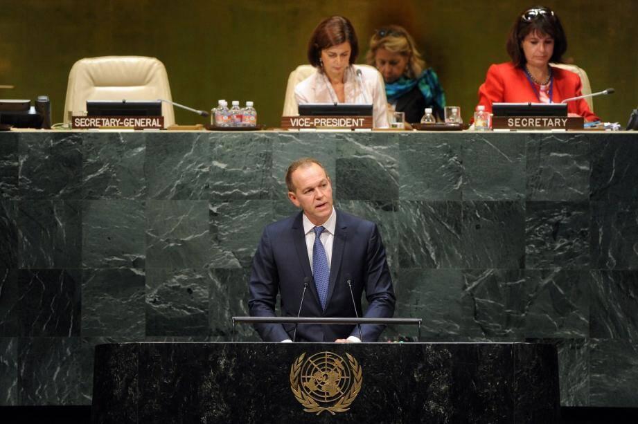 Le président Nouvion est intervenu mardi à la tribune des Nations Unies, à New York.(DR)