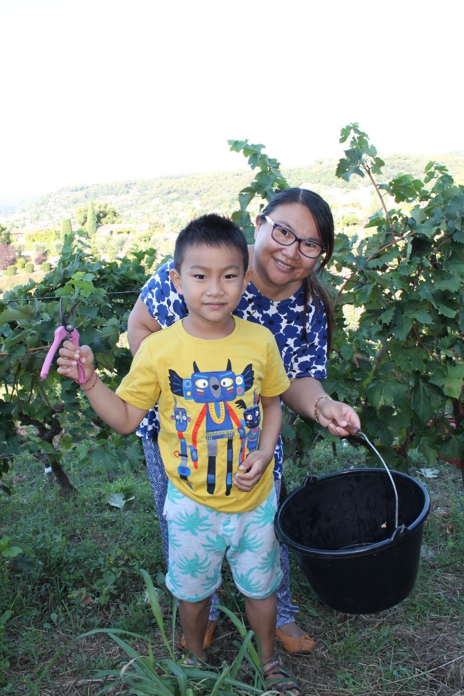 La Chinoise Hongguang et son fils Liam.
