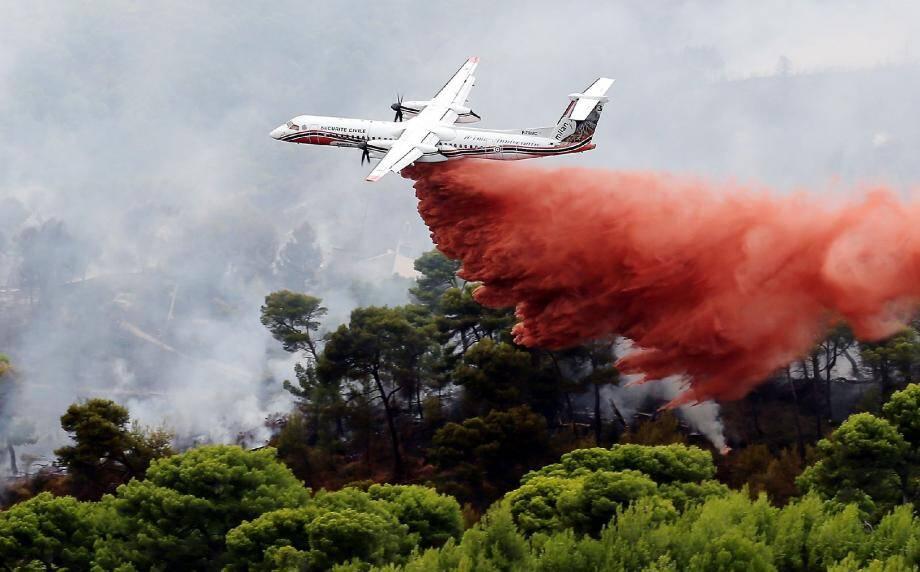 Treize aéronefs bombardiers d'eau ont été engagés mercredi pour lutter contre les flammes. La piste criminelle est déjà dans tous les esprits.