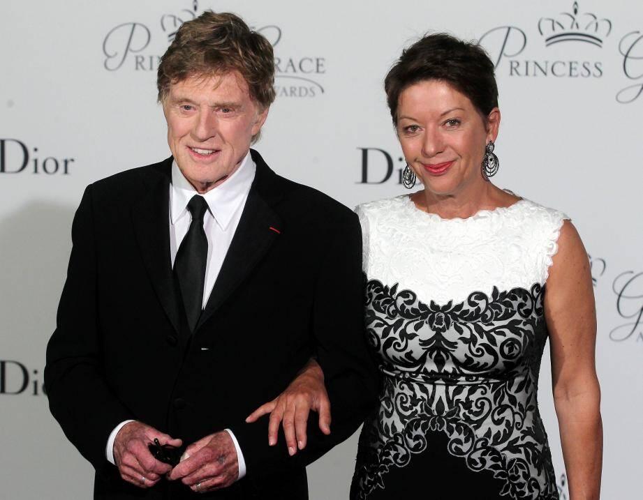 Robert Redford et sa femme, Sibylle Szaggars, au gala de la Princess Grace Foundation.