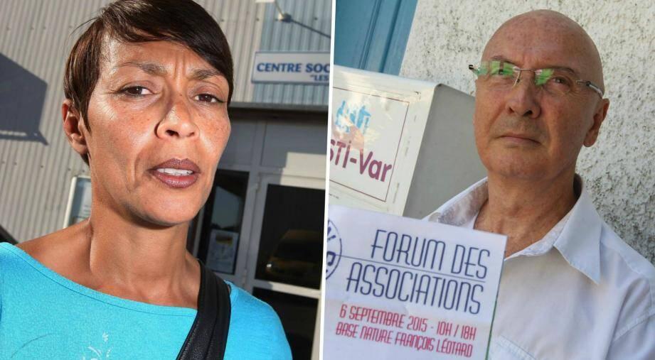 Fatima Zekri et Philippe-Emmanuel Queune, présidents du centre social Les Tournesols et de l'ASTI, s'associent à Sandrine Montagard et Tarik Belkhodja pour dénoncer la décision de la Ville à l'égard de leurs associations.