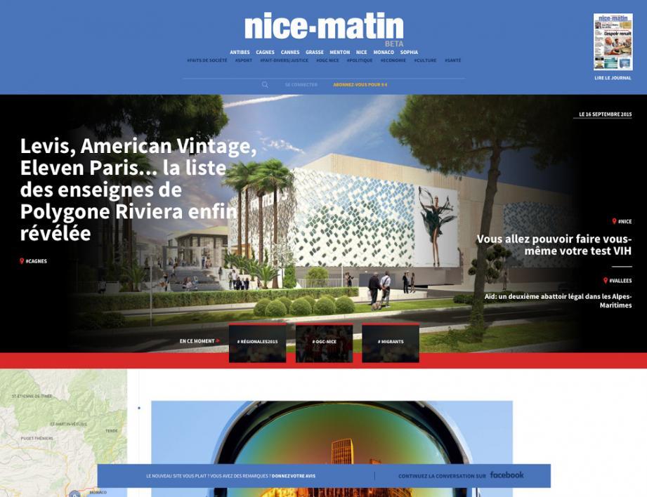 Les nouveaux sites web de Nice-Matin
