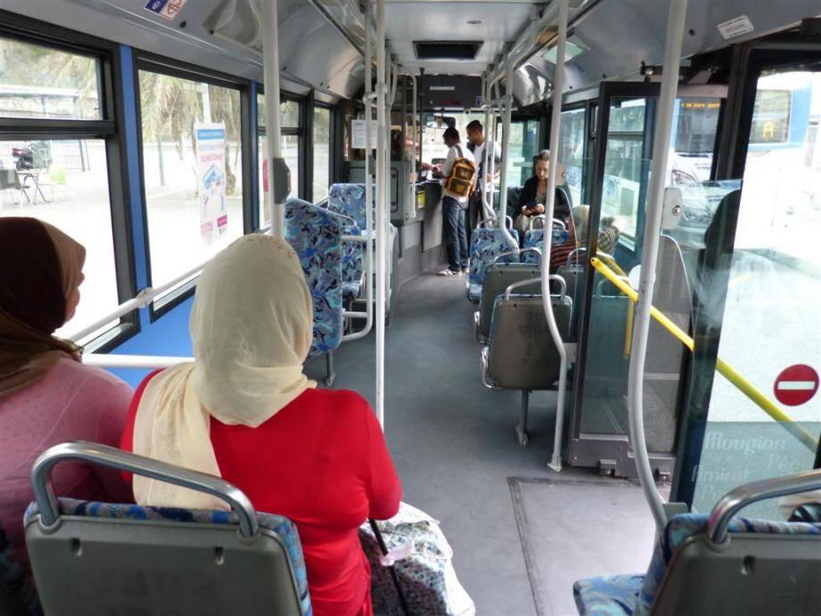 Dans le bus à Grasse