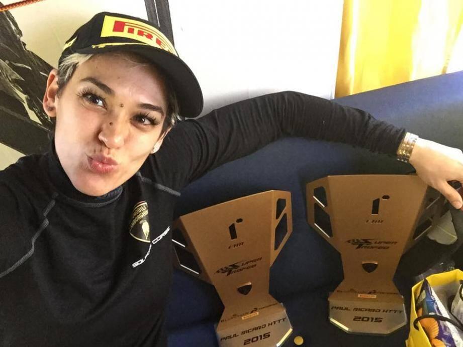 Carina Lima est driveuse professionnelle.