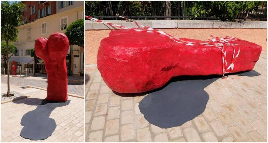 sculpture vandalisee monaco phallique penis 150903