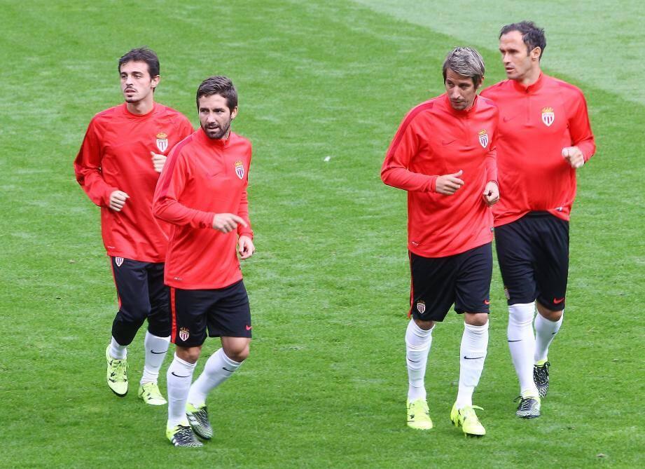 Les joueurs de l'AS Monaco à l'entraînement.