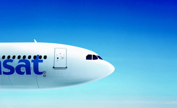 Un avion de la compagne Air Transat.