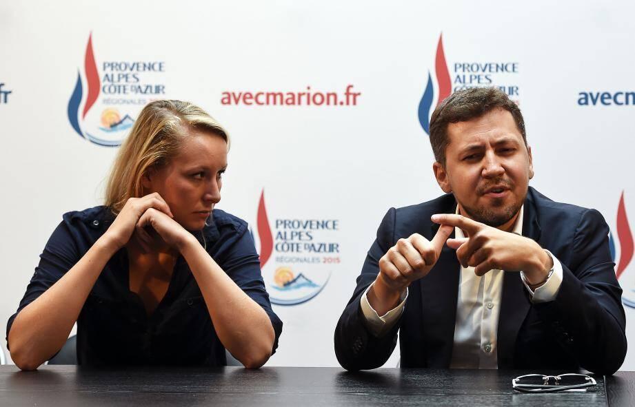 Franck Allisio et Marion Maréchal le Pen.