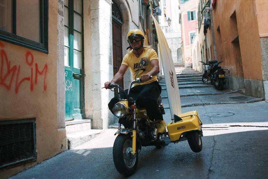 Brice en Dax dans les rues de Nice.