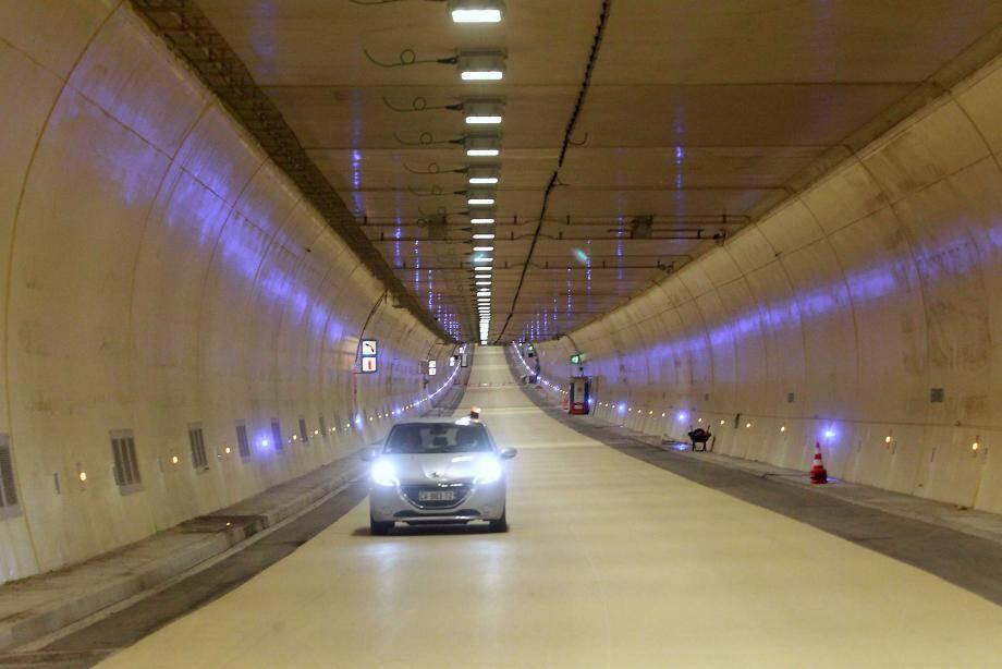 Le tube sud du tunnel de Toulon (image d'illustration).