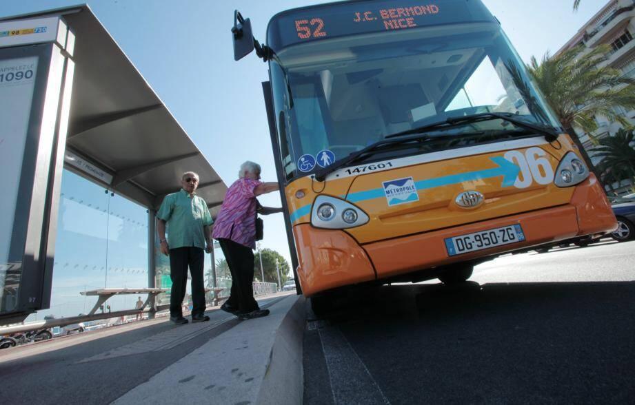 Un bus à Nice.