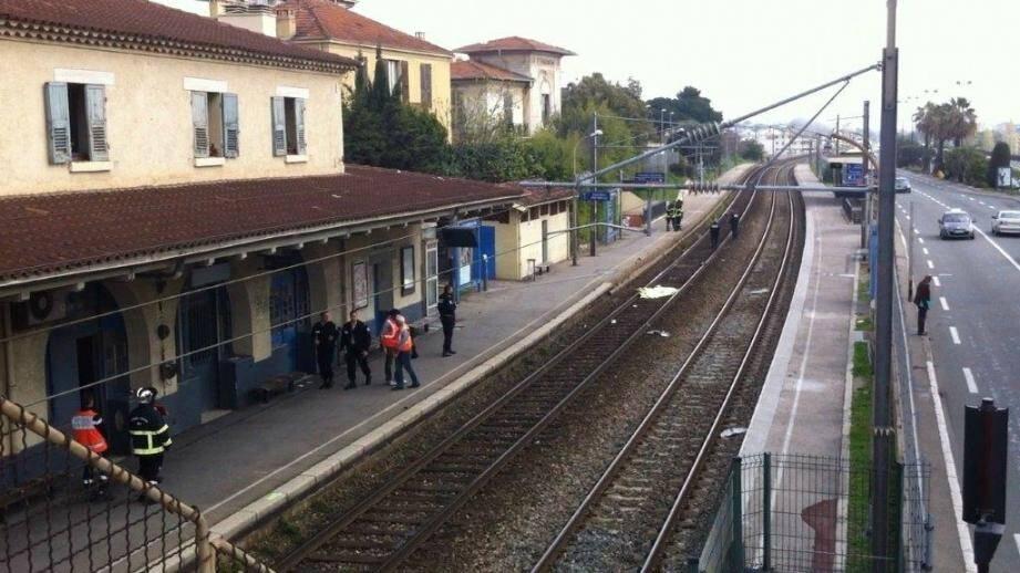 La gare de Saint-Laurent du Var.