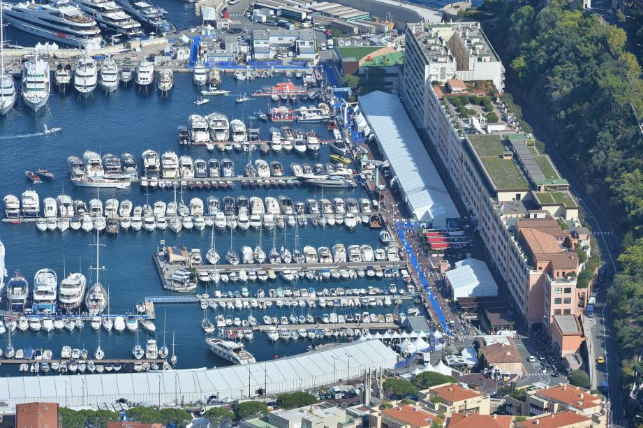 AGENCE MONACOInauguration du Monaco Yacht Show en présence du Prince Albert II