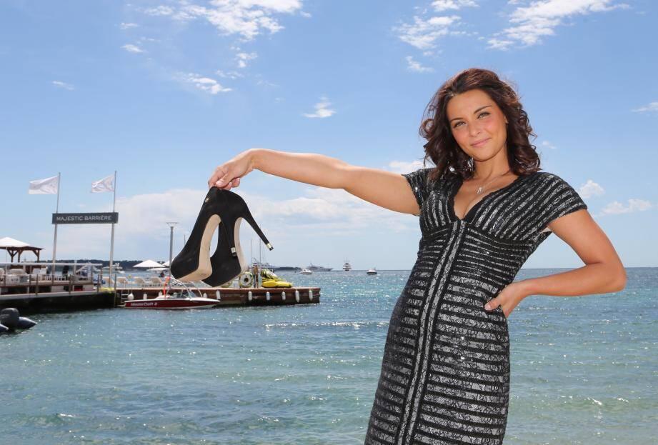 La niçoise Priscilla Betti lors du Festival de Cannes 2014